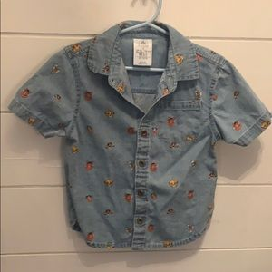 Disney store lion king button up chambray shirt